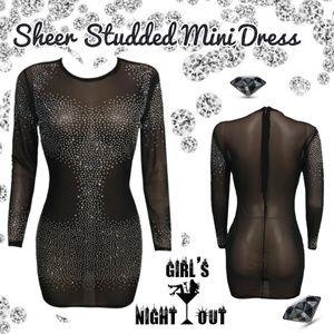 Dresses & Skirts - 🔥SALE🛍 Sheer lil black dress